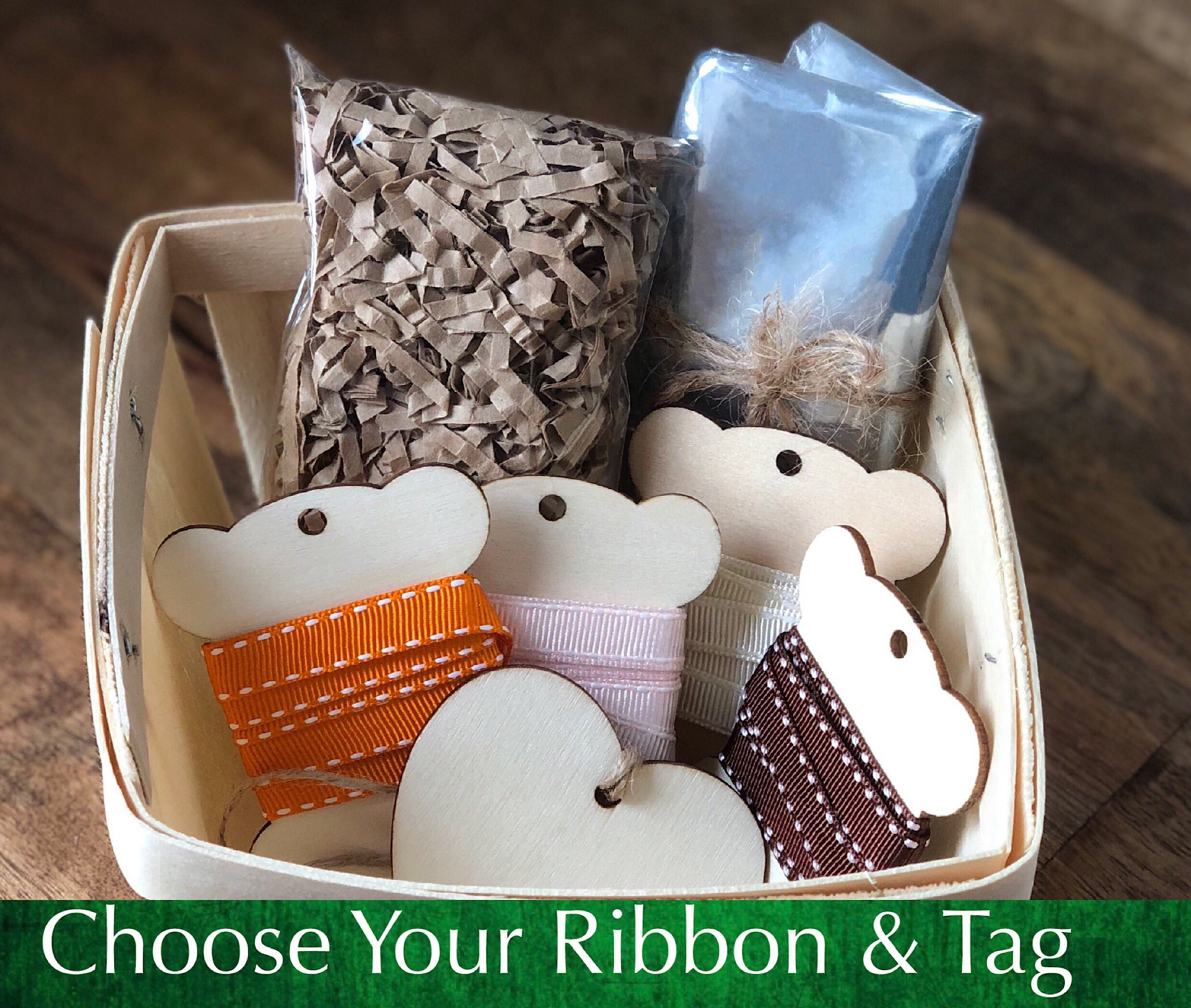 DIY Gift Basket Wrapping Kit - Grosgrain Ribbon