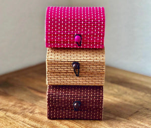 5 Handmade Bamboo Gift Boxes-3 Color Choices