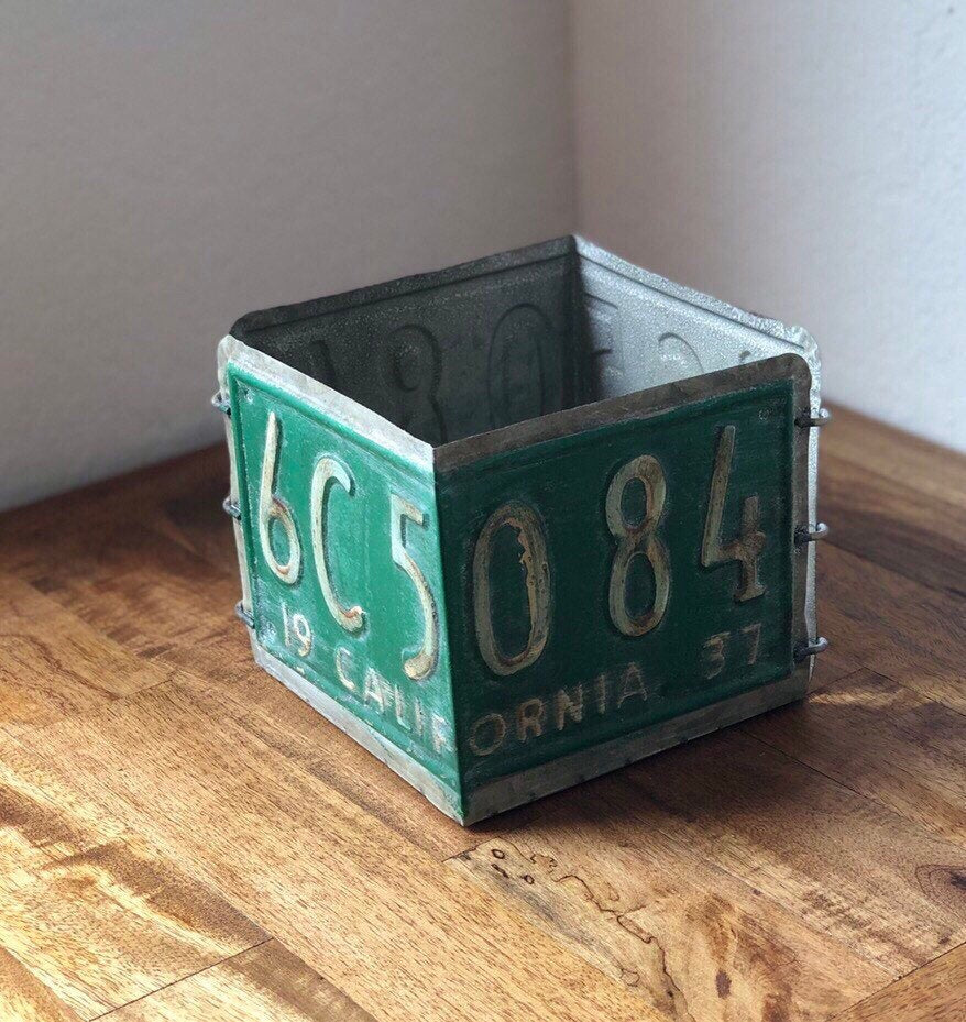 Vintage Style License Plate Box