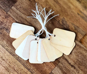 Wood Gift Tags With Twine
