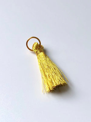 20 Small Gold Tassels with Gold Jump Rings
