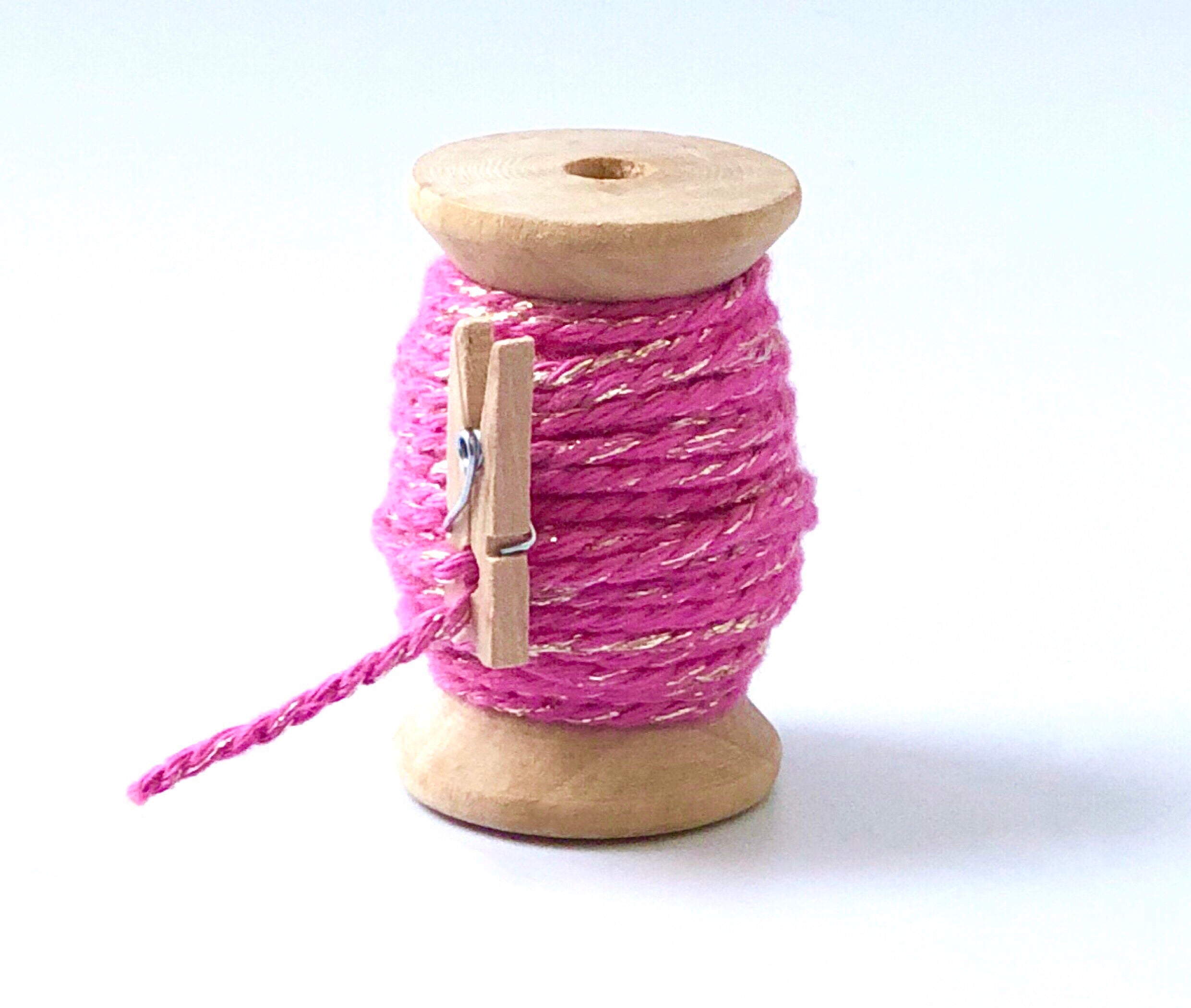 Pink and Gold Twine Spool - 20ft 8ply
