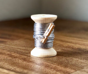 Silver Cord on Spool - 15ft 1.5mm