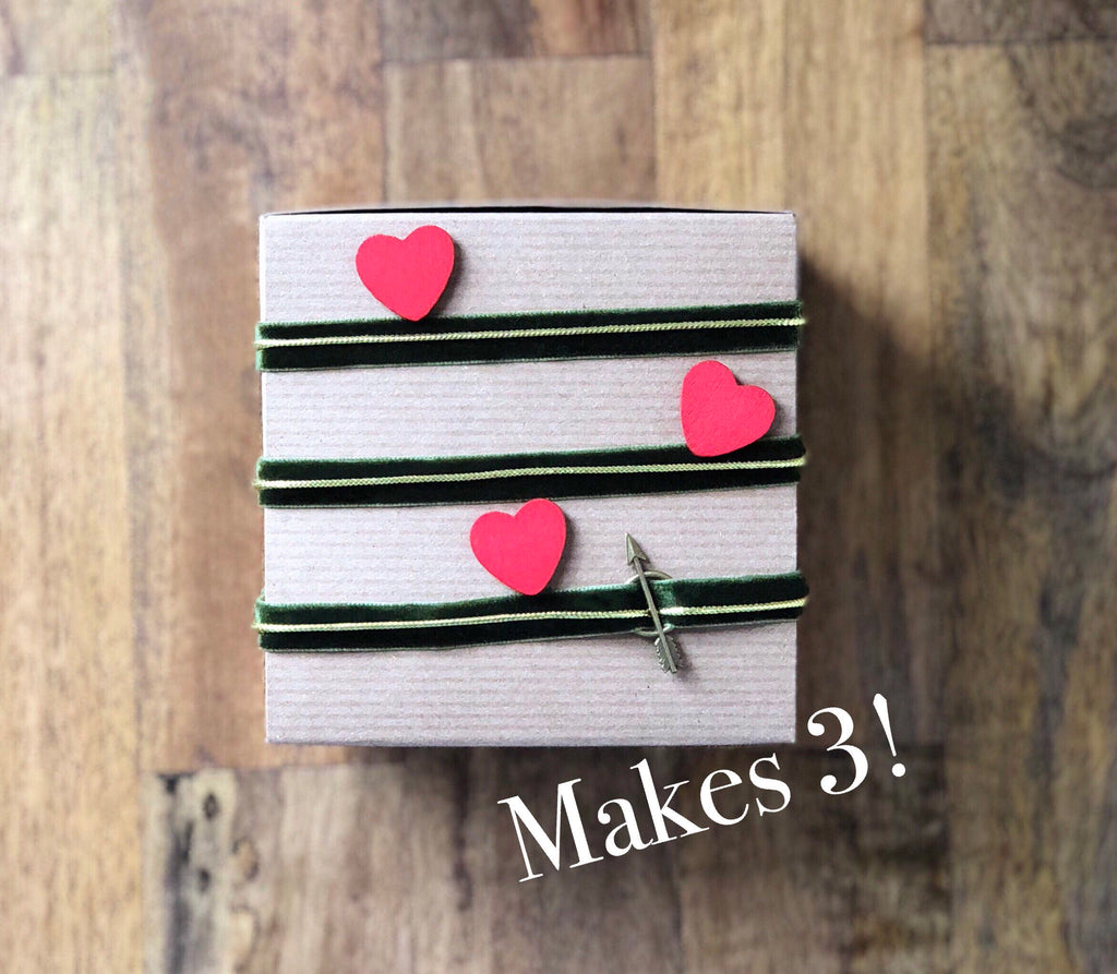 Heart and Arrow Gift Wrapping Kit