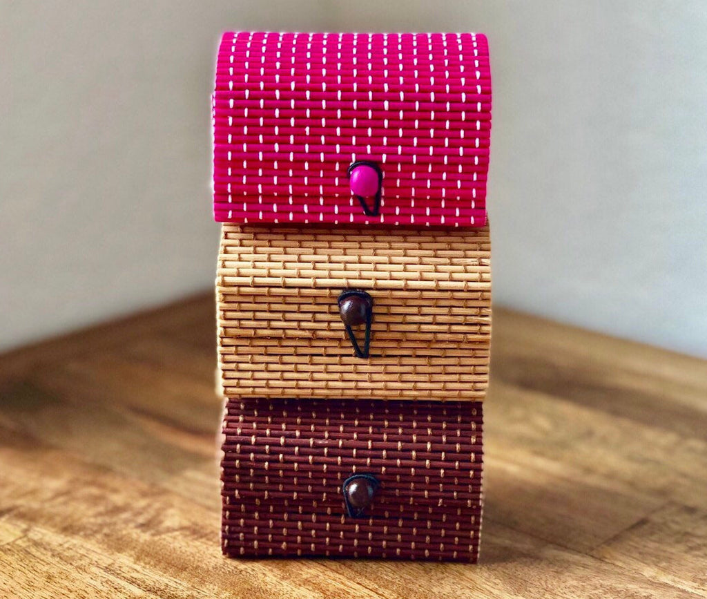 10 Handmade Bamboo Gift Boxes-3 Color Choices