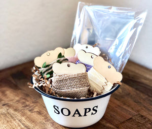 "Vintage Style ""Soaps"" Bowl with Optional Wrapping Kit"