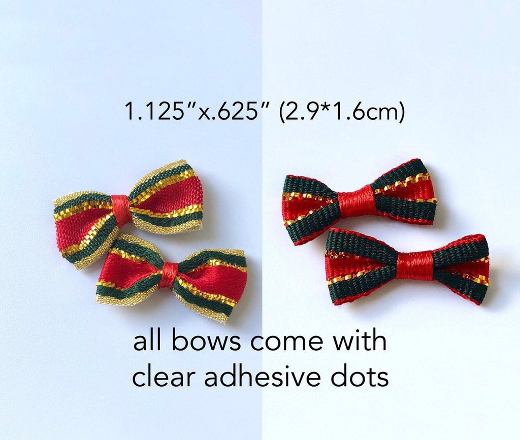 Mini Gift Bows ~ 2 Color Choices