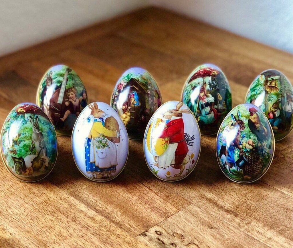 Painted Tin Refillable Eggs
