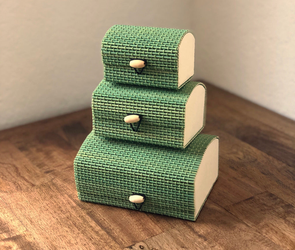 Set of 3 Nested Handmade Bamboo Gift Box