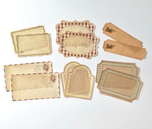 12 Small Vintage Style Gift Tags
