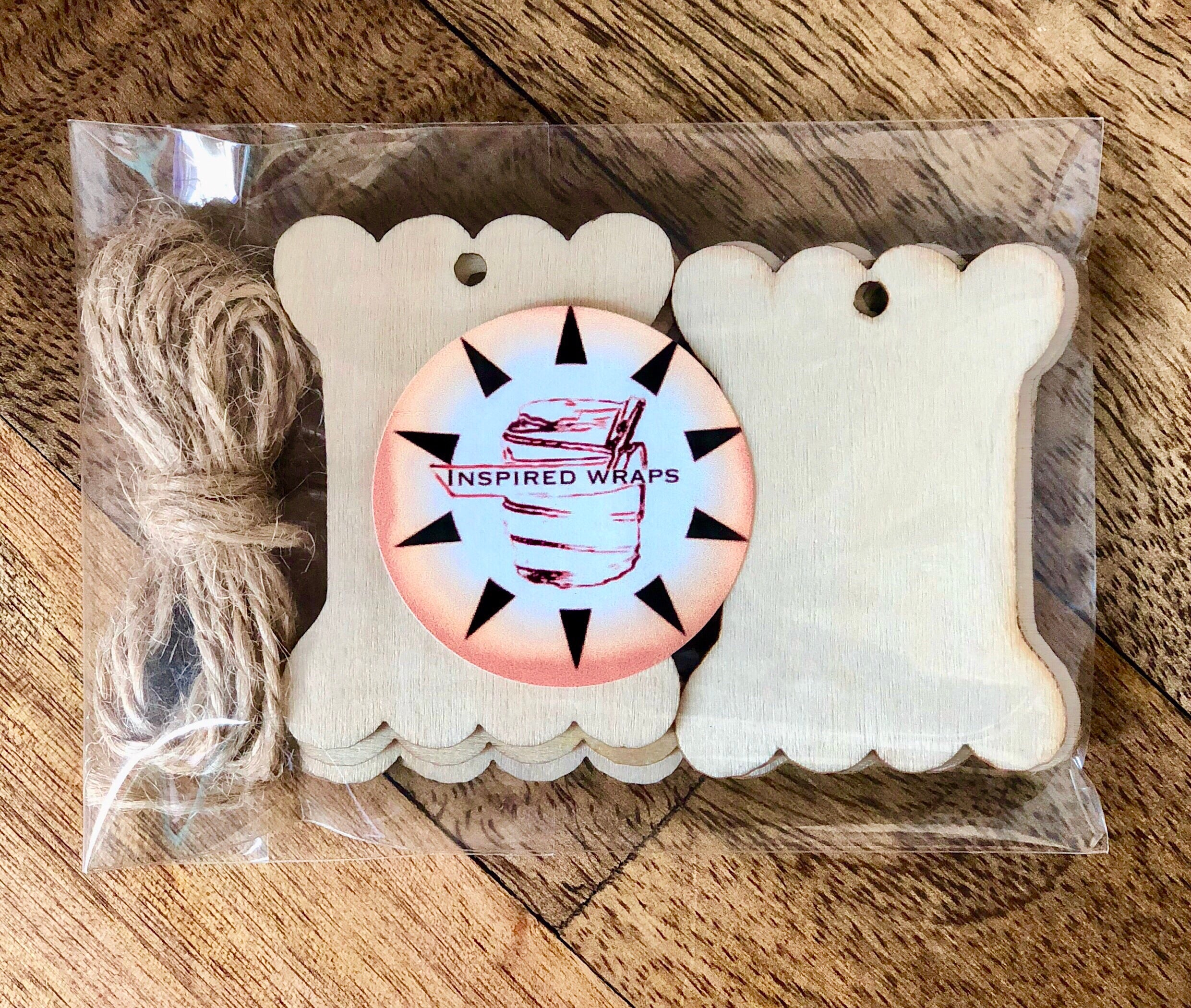 Wood Spool Gift Tags With Twine