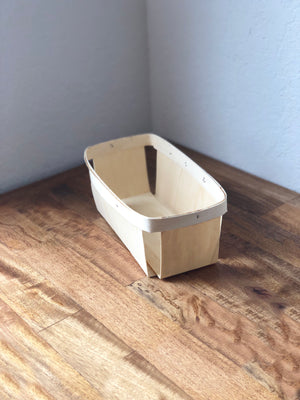 Rectangular Wood Berry Basket - Quart Size- Made in USA