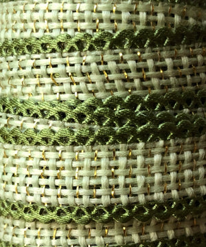 Green & Gold Jute Blend Ribbon Spool - 7.5ft