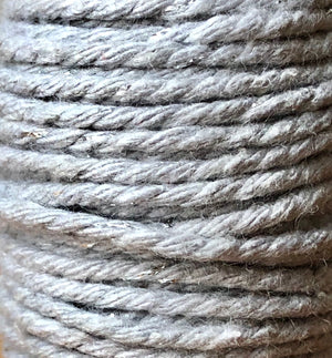 Grey and Silver Twine Spool - 20ft 8ply