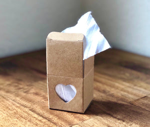Favor Boxes with Clear Heart ~ 2""