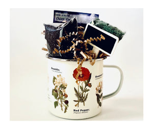 Herb Planting Gift in Enamel Botanical Cup