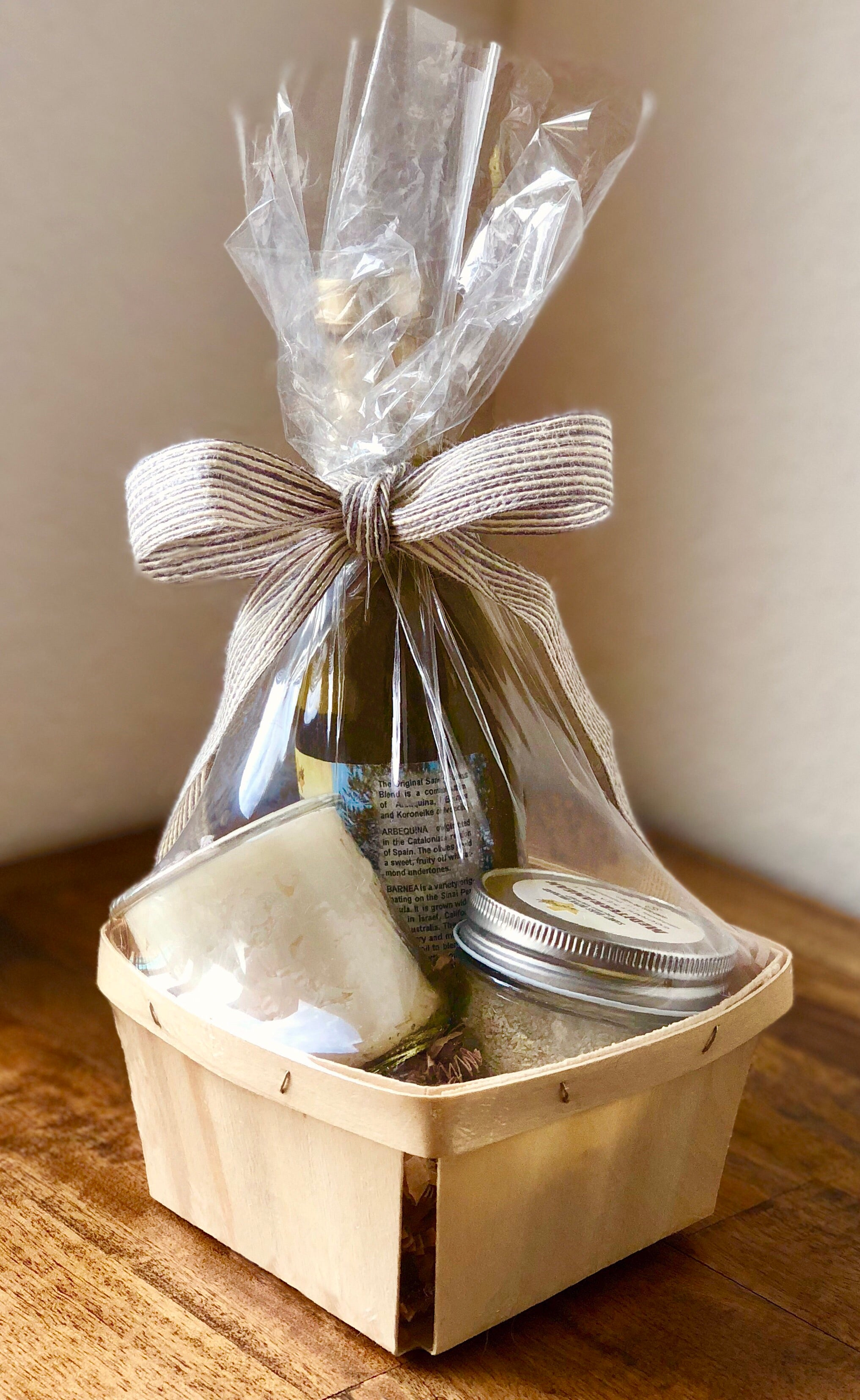DIY Gift Basket Wrapping Kit - Coarse Linen Blend Ribbon