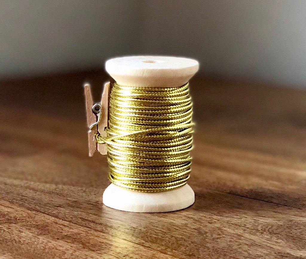 Gold Cord Spool - 15ft 1.5mm