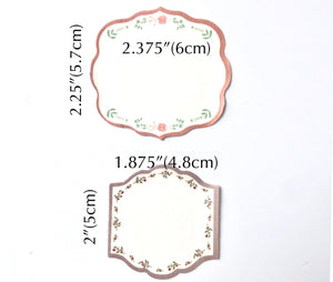 12 Small Floral Edged Gift Tags