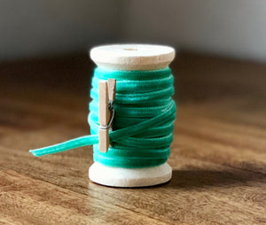 Thin Mint Green Velvet Ribbon Spool-15ft