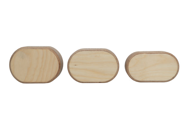Buy oval wood handstand blocks in 3 sizes: small, medium, and large.