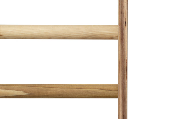 Stall Bar Construction: Furniture grade Baltic Birch laminated wood and hardwood dowel