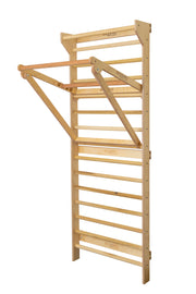 Adjustable Pull-up Bar and Dip Bar Combination for Swedish Ladder Stall Bars