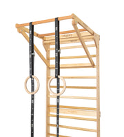 Personal Training Stations: ECO Wood Stall Bars, Pull-Up Dip Bar, Parallettes (optional)