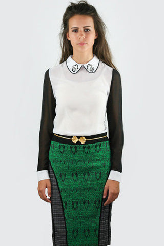 "<img src=""Sister-Jane-Green-Tweed-Dive-Into-The-Future-Skirt-Front-View.jpg"" alt=""Sister Jane Green and Tweed Dive Into the Future Skirt Front View"">"