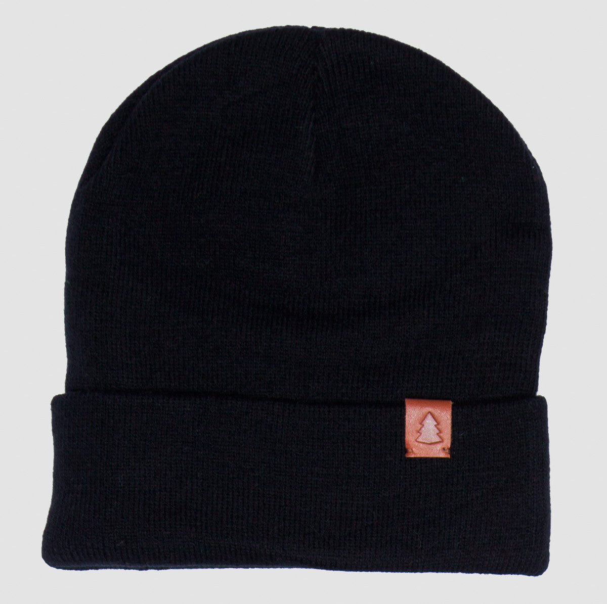 FOLDER BEANIE LEATHER LOGO