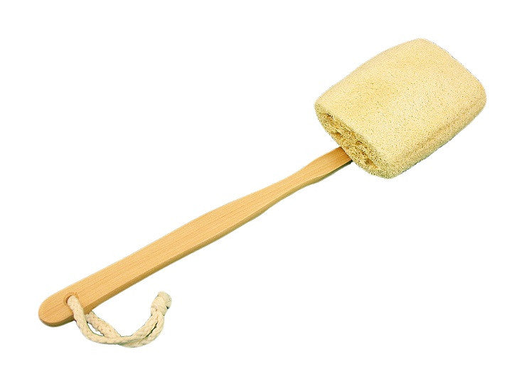 Loofah Back Brush, Wood