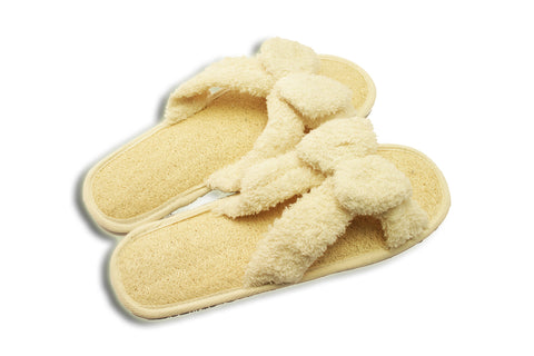 Loofah Terry Slipper with Bow