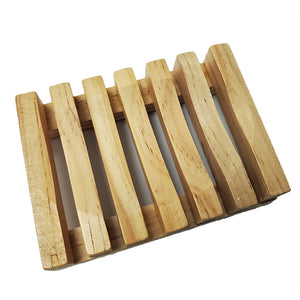Slatted Wood Soap Dish