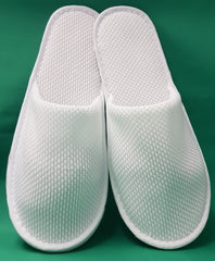 Cotton slippers, White only