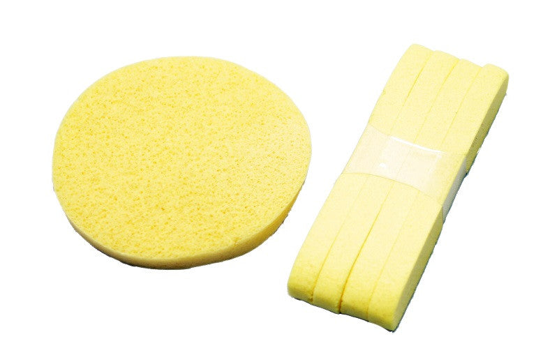 PVA Cleansing Sponge, Compressed, 5pk