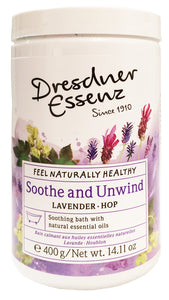 Soothe and Unwind Bath Powder, 400g plastic jar