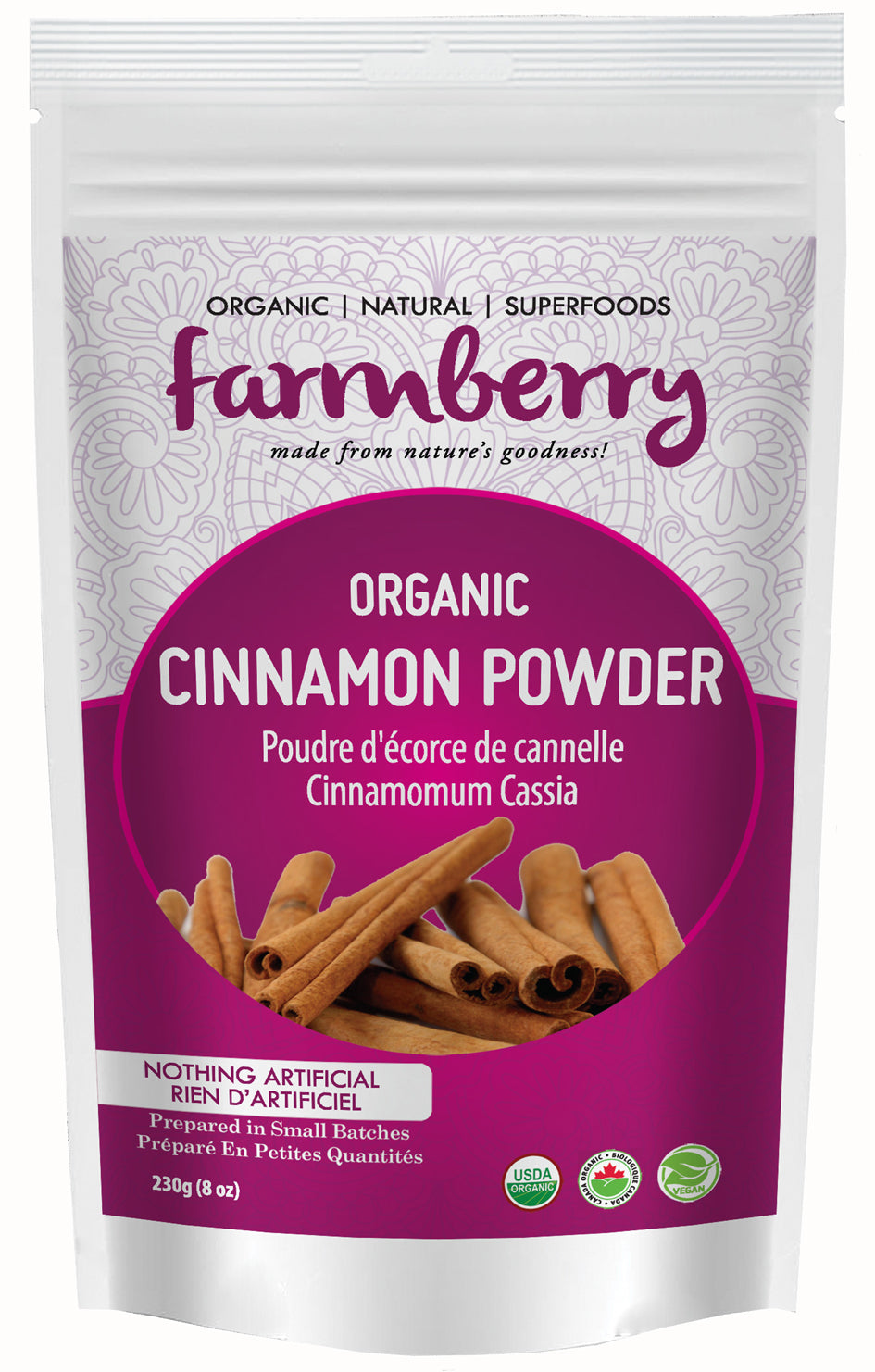 Farmberry Organic Cinnamon Powder 454g