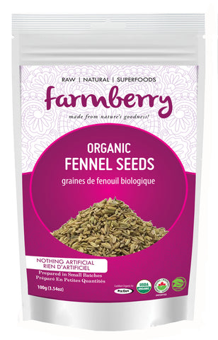 Farmberry Organic Fennel Seeds 100g