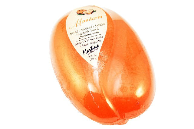 Mandarin Soap, 120g   single bars or volume discounts