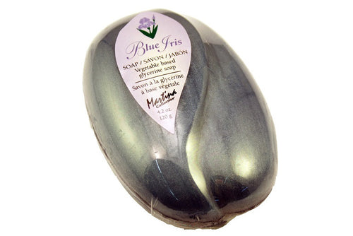 Blue Iris Soap, 120g single bars or volume discounts