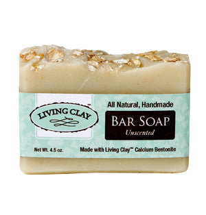 Living Clay Unscented Bar Soap, 4 oz.