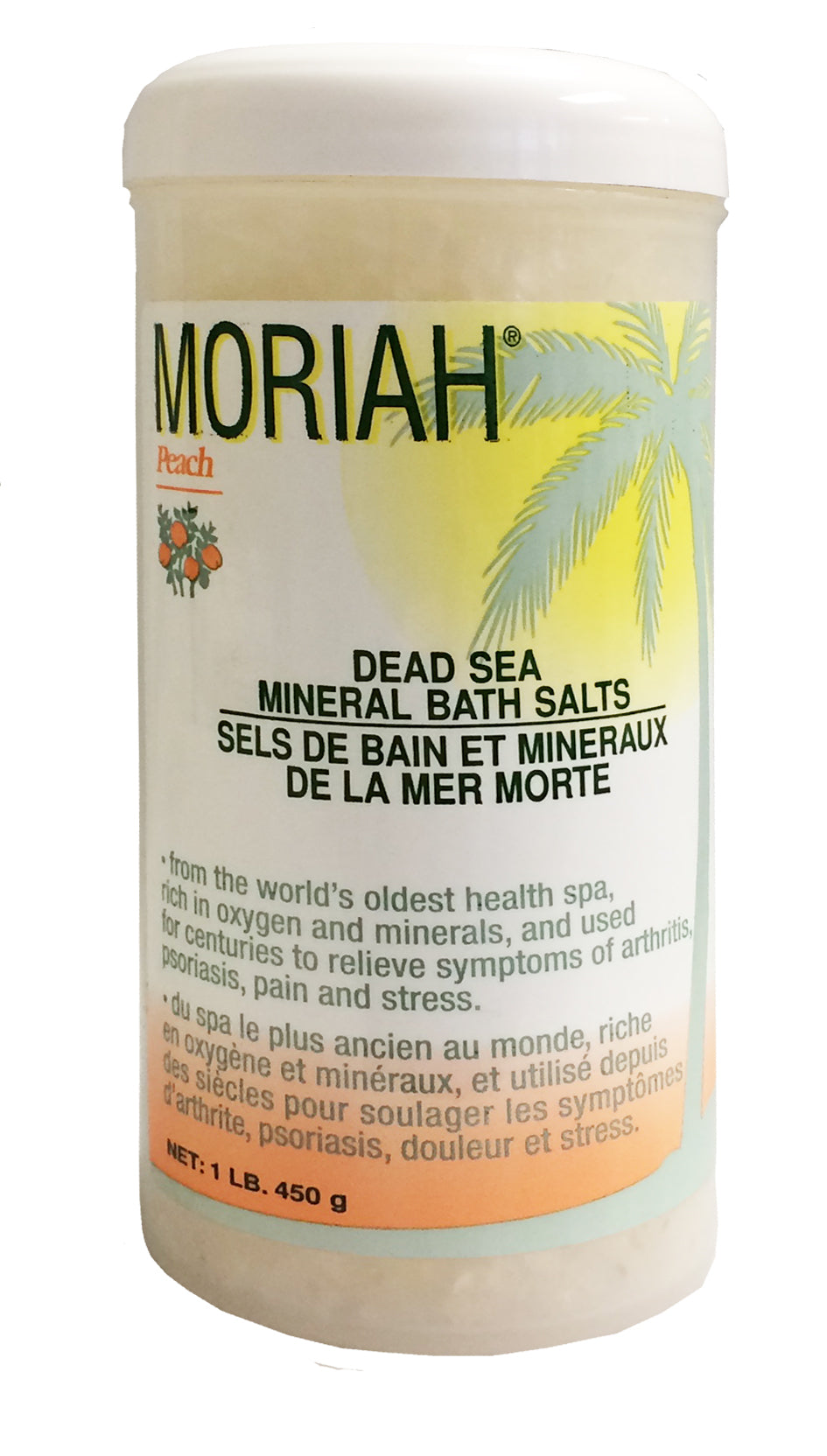 Moriah Bath Salts, Peach, 450g Jar