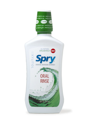 Spry Oral Rinse, Spearmint, 473ml
