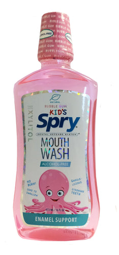 Spry Kid's Oral Rinse, Bubble Gum, 473ml