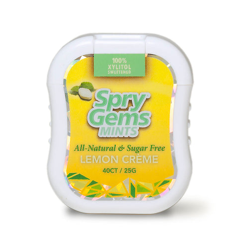 Spry Gem Mints, case of 6, 40 pc each, Lemon