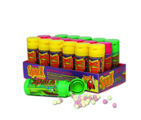 Sparx Mixed Candy Counter Display Pack, 18 per