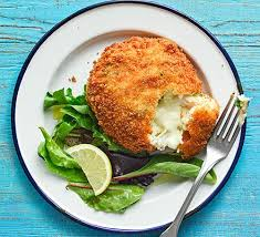 Cod and Parsley melt in the middle fishcakes