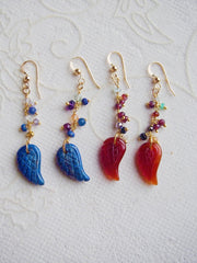 Flights of Fancy Gemstone Wing Earrings