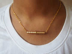 Minimalistic Industrial Brass Necklace by Maya's Ideas