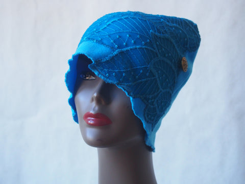 Turquoise Waves Eco Friendly Cloche Hat by Maya's Ideas